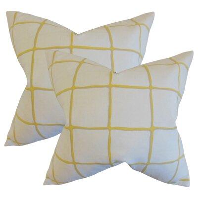 Rittenhouse Cotton Throw Pillow Color: Citrine
