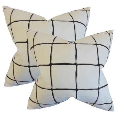 Rittenhouse Cotton Throw Pillow Color: Ink