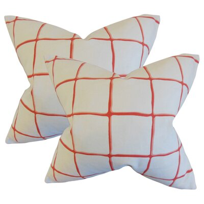 Rittenhouse Cotton Throw Pillow Color: Poppy