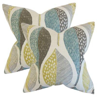 Sutton Geometric Cotton Throw Pillow Color: Gray
