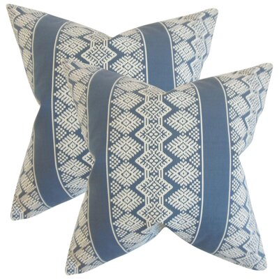 Zagora Geometric Cotton Throw Pillow