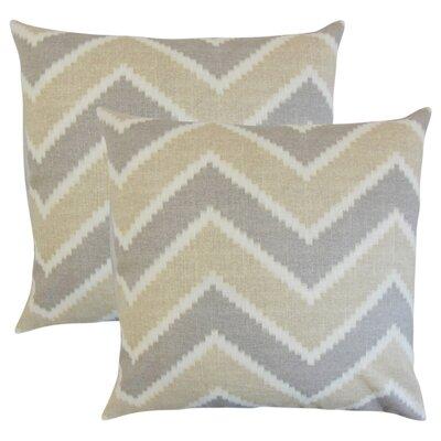 Simonton Zigzag Linen Throw Pillow Color: Gray