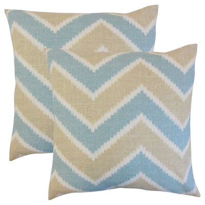 Simonton Zigzag Linen Throw Pillow Color: Tan