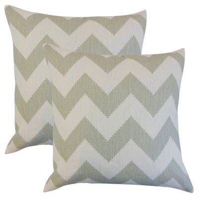 Svendsen Zigzag Linen Throw Pillow Color: Gray