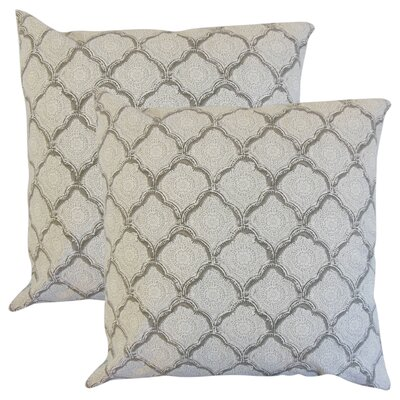 Mateus Geometric Cotton Throw Pillow Color: Gray