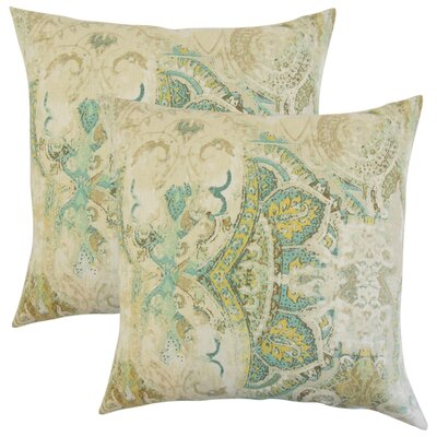 Brookview Floral Linen Throw Pillow Color: Seahorse