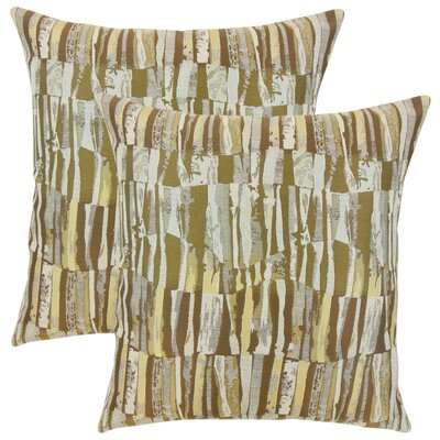 Wimbish Stripes Throw Pillow Color: Golden Rod