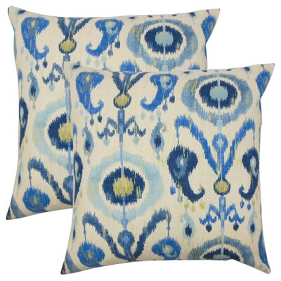 Jaque Ikat Cotton Throw Pillow