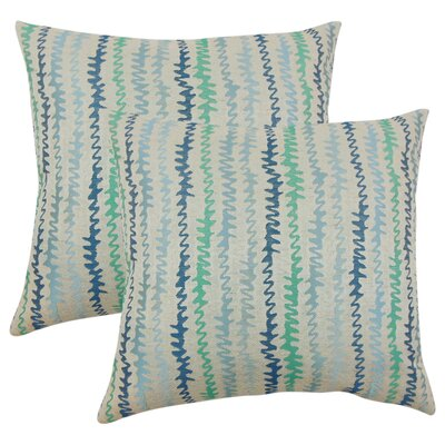 Dozier Zigzag Throw Pillow Color: Turquoise