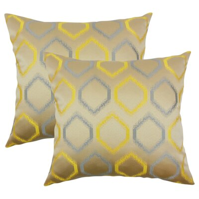 Pilkington Geometric Throw Pillow Color: Hemlock
