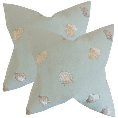 Jessamine Coastal Cotton Throw Pillow