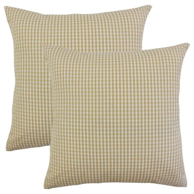 Bergmann Plaid Cotton Throw Pillow Color: Honey