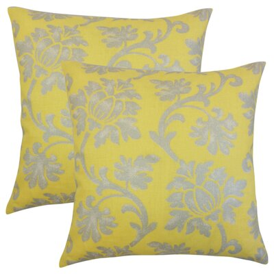 Arrighetto Floral Throw Pillow Color: Canary