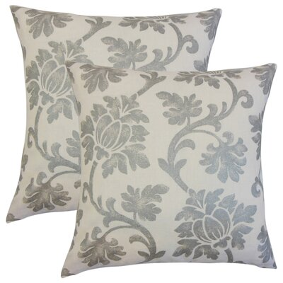 Arrighetto Floral Throw Pillow Color: Platinum