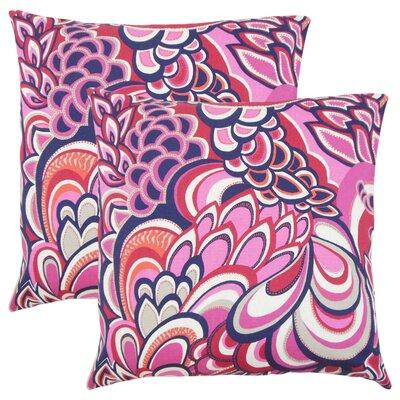 Armistead Floral Cotton Throw Pillow Color: Berry