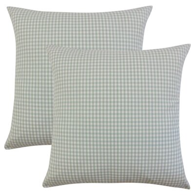 Bergmann Plaid Cotton Throw Pillow Color: Sea