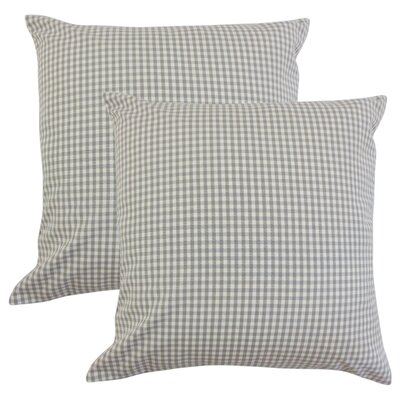 Bergmann Plaid Cotton Throw Pillow Color: Slate