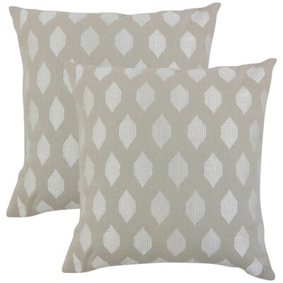 Dorotea Geometric Linen Throw Pillow Color: Gray
