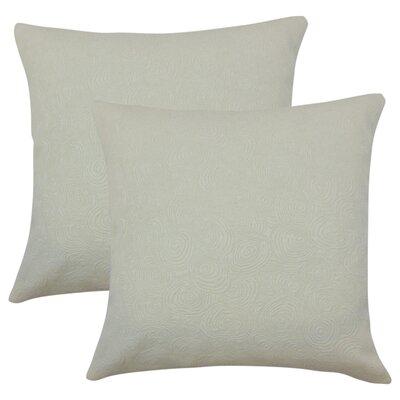 Bernardo Graphic Cotton Throw Pillow Color: Gray