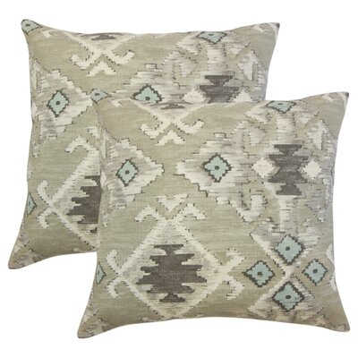 Sodine Ikat Cotton Throw Pillow Color: Cocoa