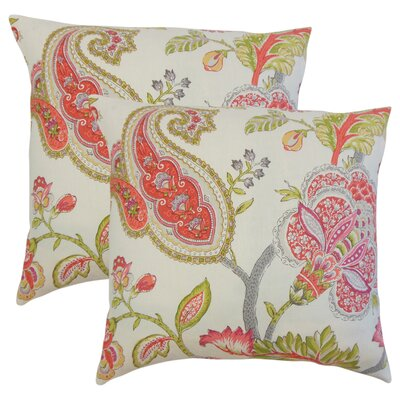 Porrima Floral Linen Throw Pillow