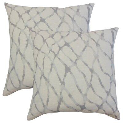 Ritter Graphic Linen Throw Pillow Color: Gray