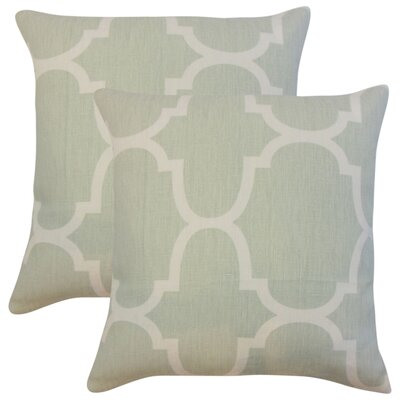 Giusto Geometric Linen Throw Pillow Color: Gray