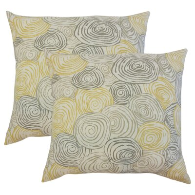 Zeus Graphic Linen Throw Pillow Color: Yellow