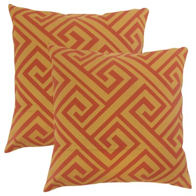 Zaire Geometric Throw Pillow Color: Spice