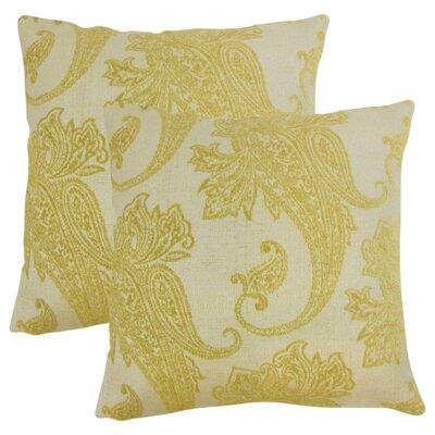 Gauron Paisley Throw Pillow Color: Lichen