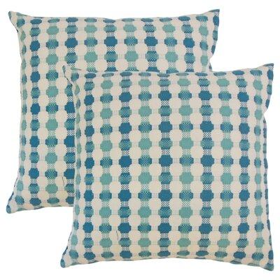 Lussier Geometric Throw Pillow Color: Bermuda