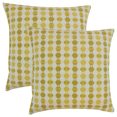 Lussier Geometric Throw Pillow Color: Lichen