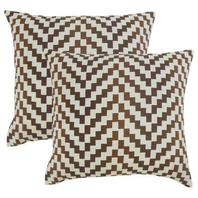 Chabot Geometric Throw Pillow Color: Mahogany