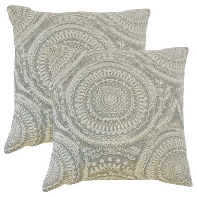 Lau Graphic Throw Pillow Color: Driftwood