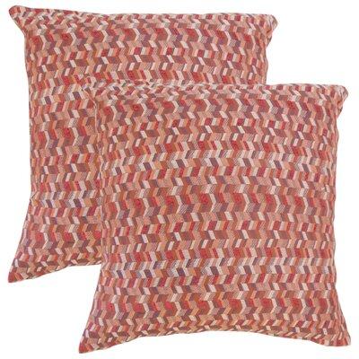 Creel Chevron Throw Pillow Color: Geranium