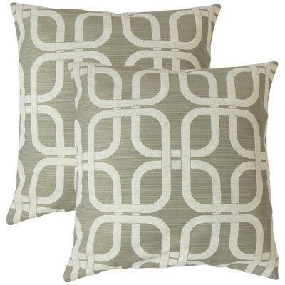 Radstock Geometric Throw Pillow Color: Graystone