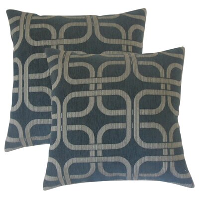 Radstock Geometric Throw Pillow Color: Nightsky