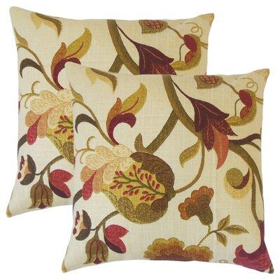 Rockson Floral Throw Pillow Color: Autumn