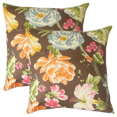 Barney Floral Throw Pillow Color: Terra