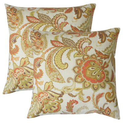 Abramo Floral Linen Throw Pillow