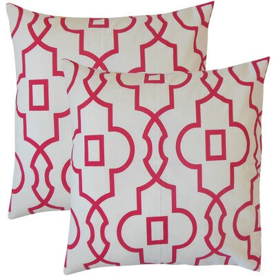 Winkle Geometric Cotton Throw Pillow