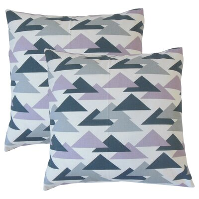 Winkleman Geometric Cotton Throw Pillow Color: Purple
