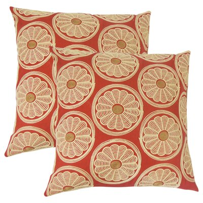 Anas Floral Cotton Throw Pillow
