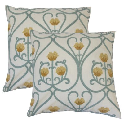 Feissal Floral Cotton Throw Pillow