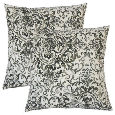 Overland Damask Cotton Throw Pillow