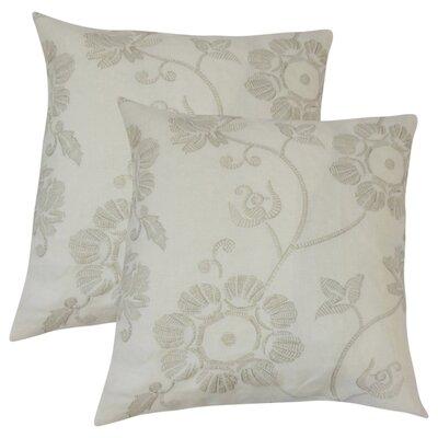 Baryzhikova Floral Linen Throw Pillow