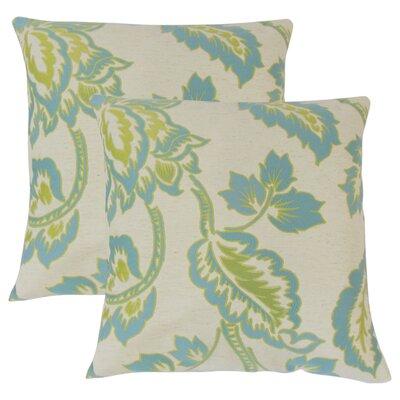 Edoardo Floral Throw Pillow Color: Blue