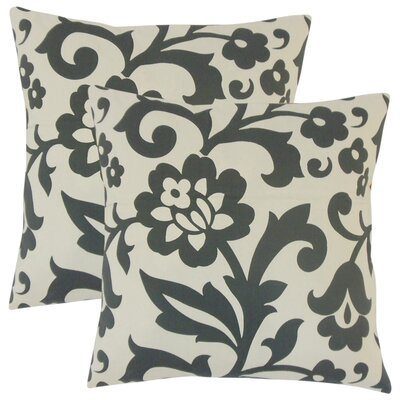 Sammi Floral Throw Pillow Color: Dove
