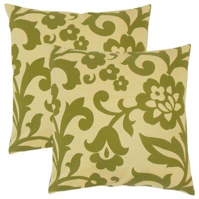 Sammi Floral Throw Pillow Color: Kiwi