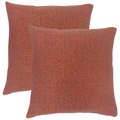 Milania Woven Throw Pillow Color: Fiesta